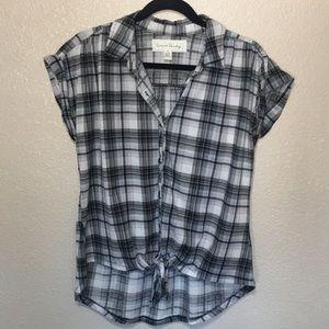 French Laundry Plaid Short Sleeve